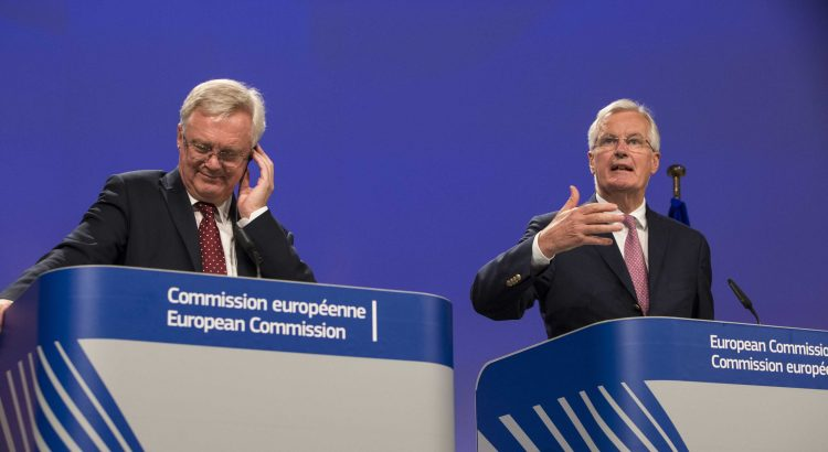 Photo - David Davis and Michel Barnier