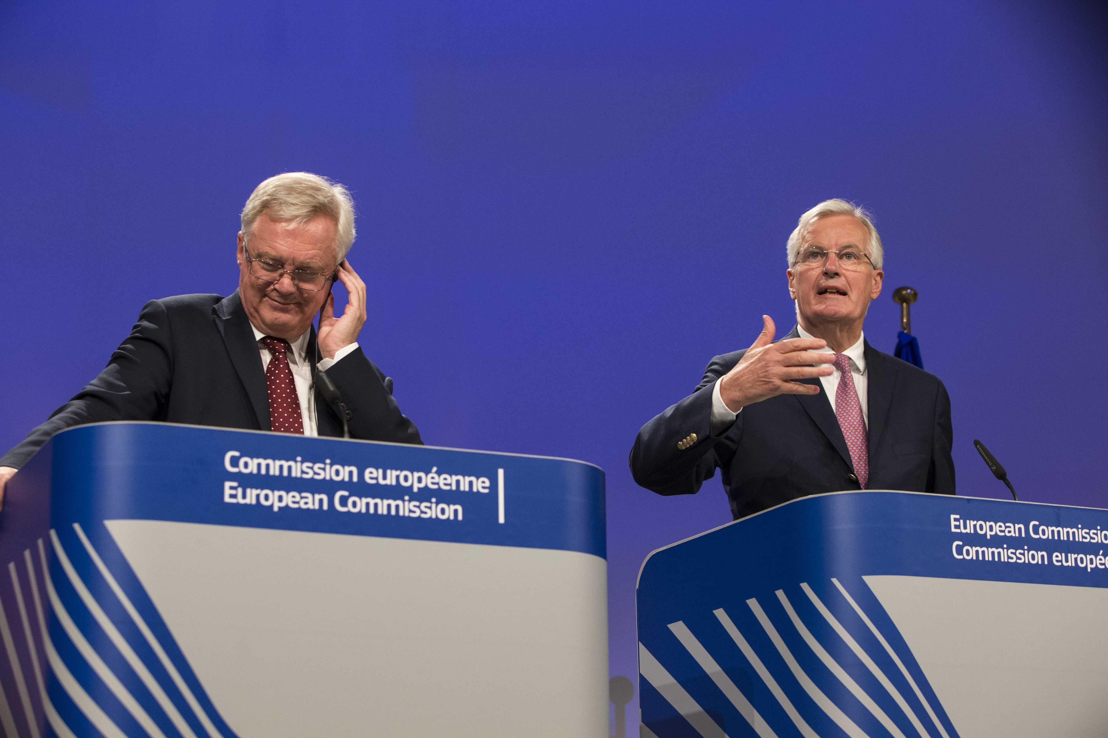 Photo - David Davis and Michel Barnier
