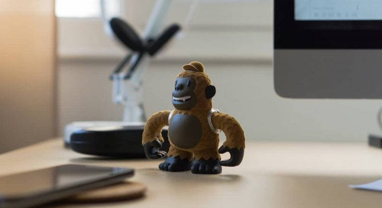 Gorilla on desk