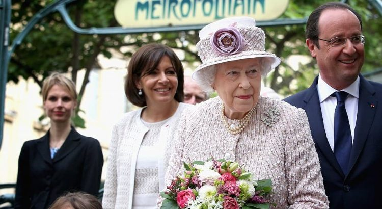 Queen Elizabeth in Paris