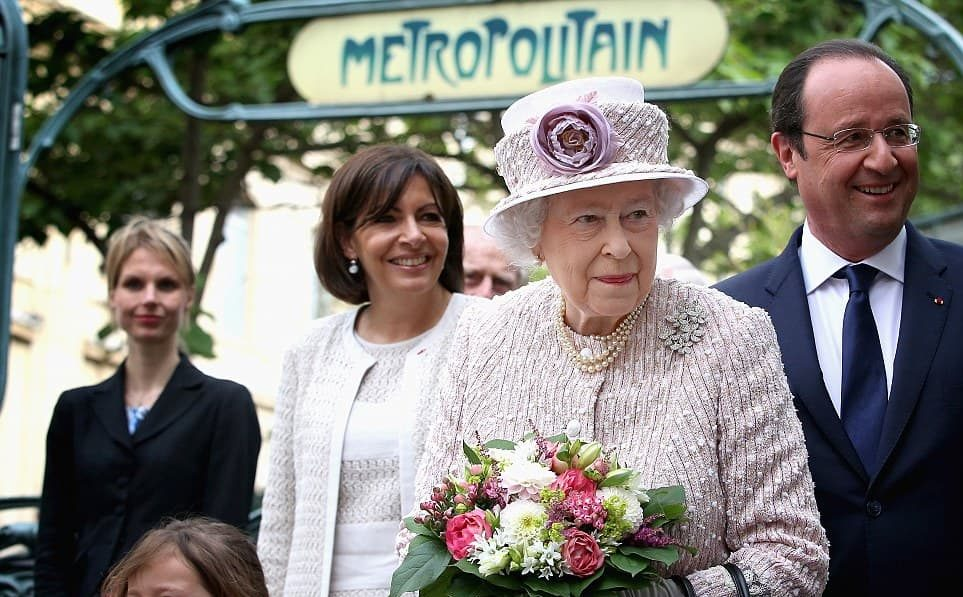 Queen Elizabeth in Paris